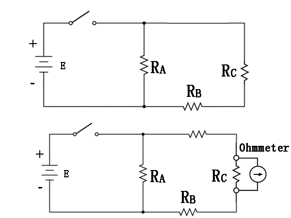 How to choose the range and Ohm's law for the meter?
